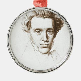Søren Kierkegaard - filósofo existencialista Adorno Navideño Redondo De Metal