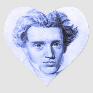 """SOREN KIERKEGAARD"" HEART STICKER"