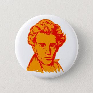 Soren Kierkegaard philosophy existentialist portra Button