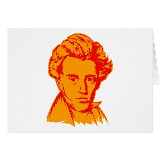 Soren Kierkegaard philosophy existentialist portra Greeting Card