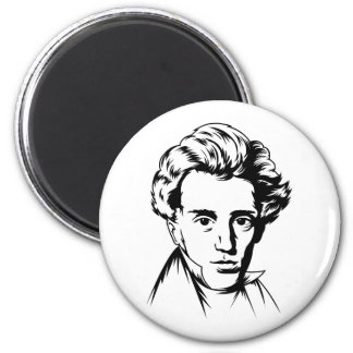 Soren Kierkegaard philosophy existentialist portra Fridge Magnets