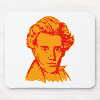Soren Kierkegaard philosophy existentialist portra Mouse Pad