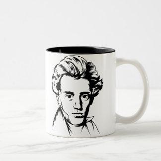 Soren Kierkegaard philosophy existentialist portra Coffee Mugs