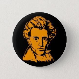 Soren Kierkegaard philosophy existentialist portra Pinback Button