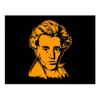 Soren Kierkegaard philosophy existentialist portra Postcard