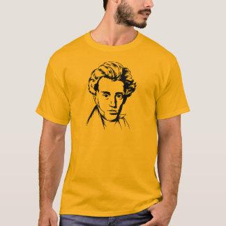 Soren Kierkegaard philosophy existentialist portra T-Shirt