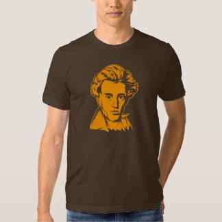 Soren Kierkegaard philosophy existentialist portra T Shirt