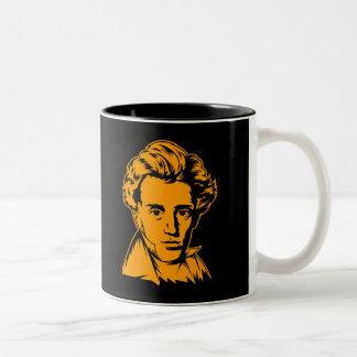 Soren Kierkegaard philosophy existentialist portra Two-Tone Coffee Mug