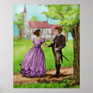Søren Kierkegaard y Regina Olsen (color) Póster