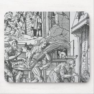 Sorgheloos que lleva una gavilla, 1541 alfombrilla de ratones
