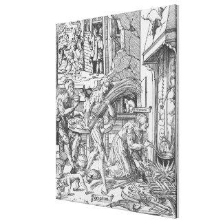 Sorgheloos que lleva una gavilla, 1541 impresión en lienzo
