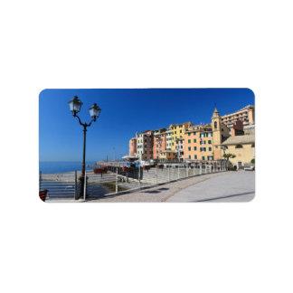 Sori waterfront, Italy Label