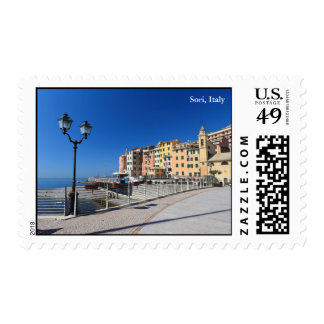 Sori waterfront, Italy Postage Stamp