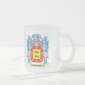 Soriano Coat of Arms - Family Crest Frosted Glass Coffee Mug