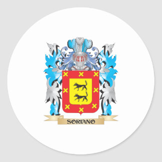 Soriano Coat of Arms - Family Crest Round Stickers