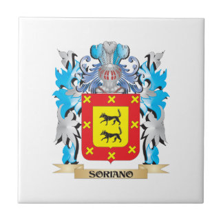 Soriano Coat of Arms - Family Crest Ceramic Tile