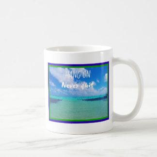 Sorobon Bonaire view design with slogan never quit Coffee Mug