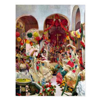 Sorolla: Danza de Sevilla- Postal