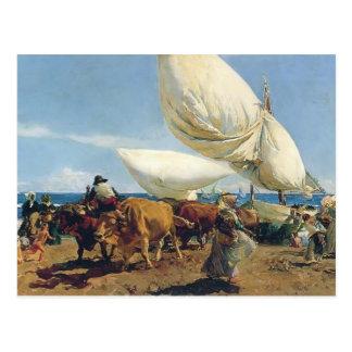 Sorolla-Llegada de Joaquín de los barcos de pesca  Tarjetas Postales
