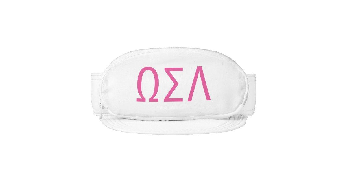 sorority fanny pack visor custom greek letters zazzle