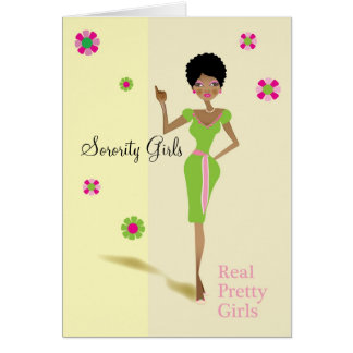Sorority Girls Greeting Card