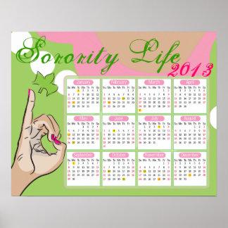 Sorority Life Calendar Poster