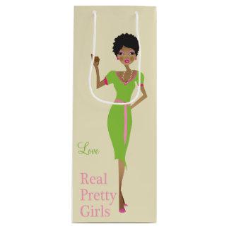 Sorority Life girly illustration Wine Gift Bag