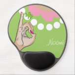 "Sorority Life Mouse Pad<br><div class=""desc"">Cute pink and green vector illustration. Monogram template design.</div>"