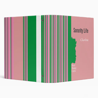 Sorority Life Personalized Binder