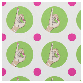 Sorority Life pink and green fabric