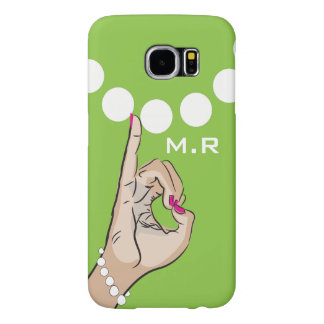 Sorority Life pink and green Samsung Galaxy S6 Case