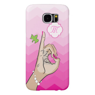 Sorority Life pink and green Samsung Galaxy S6 Cases