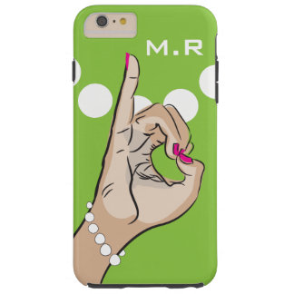 Sorority Life pink and green Tough iPhone 6 Plus Case
