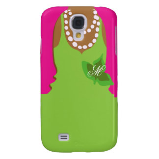 Sorority Life Pink Green Monogram Galaxy S4 Cover