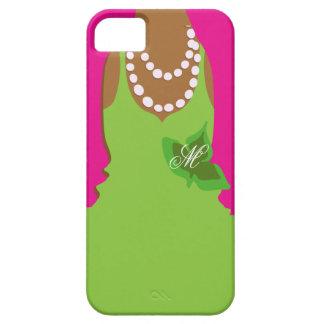 Sorority Life Pink Green Monogram iPhone SE/5/5s Case