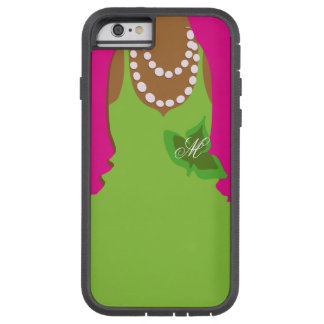 Sorority Life Pink Green Monogram Tough Xtreme iPhone 6 Case