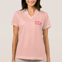 Sorority Nike Polo Shirt Custom Greek Letters
