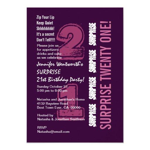 SORPRENDA 21ro W536 púrpura y rosado moderno del Anuncios Personalizados