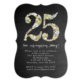 """Sorprenda el 25to número 25 que la fiesta de invitación 5"""" x 7"""""""