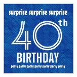 SORPRENDA el 40.o blanco azul H421 de la fiesta de Invitacion Personalizada