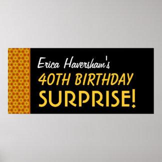 Sorprenda el 40.o cumpleaños o cualquier estrella  impresiones