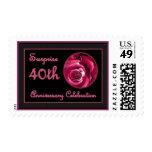 SORPRENDA el 40.o sello del rosa de la invitación