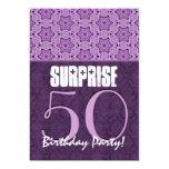 Sorprenda el 50.o cumpleaños LaceTemplate púrpura Anuncio