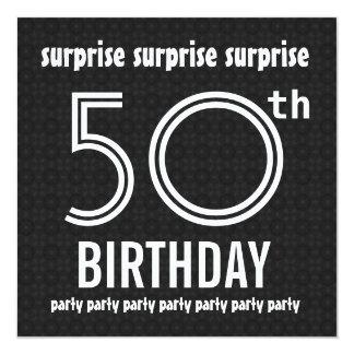 SORPRENDA el 50.o negro W1436 blanco de la fiesta Comunicado Personal