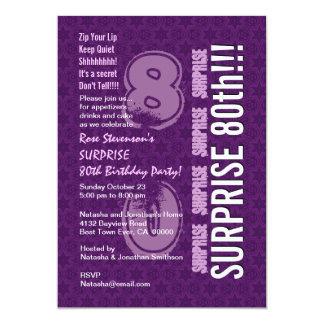 SORPRENDA el 80.o cumpleaños moderno G539 púrpura