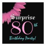 SORPRENDA el 80.o girasol del rosa de la plantilla Invitacion Personalizada