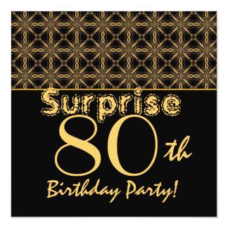 SORPRENDA el 80.o oro del cumpleaños y el vintage