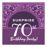 SORPRENDA el arco púrpura H482 del 70.o cumpleaños Comunicado Personalizado