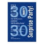 SORPRENDA el azul real moderno R600 del trigésimo Invitaciones Personalizada