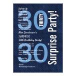 SORPRENDA el azul real moderno R601 del trigésimo  Invitaciones Personalizada